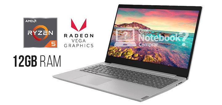 NOTEBOOK LENOVO RYZEN 5 AMD 3500U 12GB/1TB HD 15.6