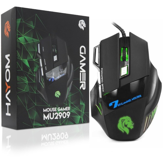 MOUSE  GAMER HAYOM 7 BOTOES USB MU2909